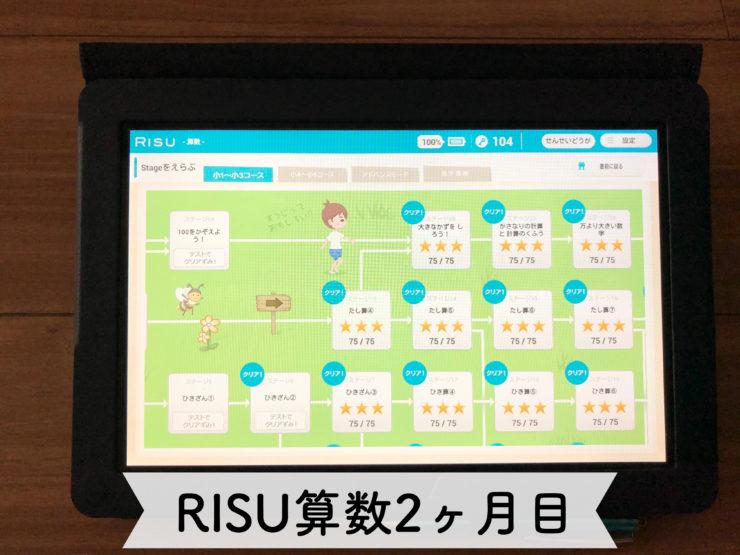 RISU算数レビュー 2か月目