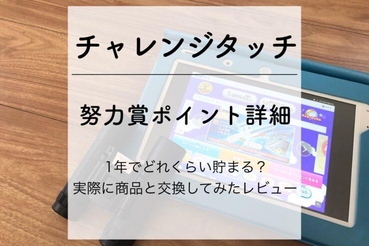 チャレンジタッチ 努力賞ポイント